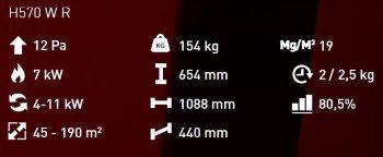 H 570 W R details